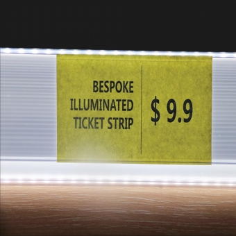 Three Sides Glowing Bespoke LED Illuminated Ticket Strip