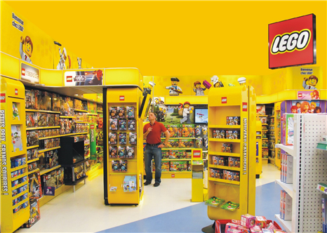 LEGO Worldwide Brand Store Lighting Solution Case
